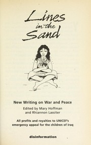 Cover of: Lines in the sand : new writing on war and peace |