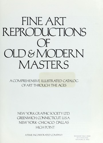 Fine art reproductions of old & modern masters by New York Graphic Society