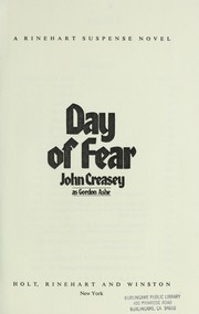 Cover of: Day of fear by Gordon Ashe