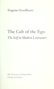 Cover of: The cult of the ego; the self in modern literature |