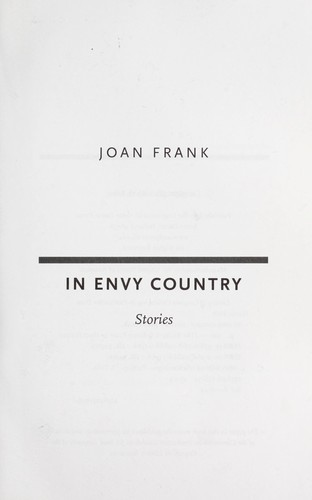 In envy country : stories by