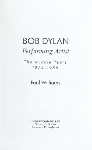 Bob Dylan by Williams, Paul