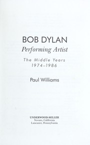 Cover of: Bob Dylan | Williams, Paul