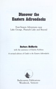 Cover of: Discover the eastern Adirondacks | Barbara McMartin