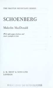 Cover of: Schoenberg | MacDonald, Malcolm