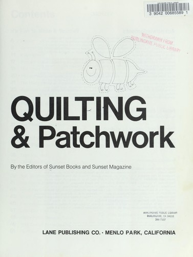 Quilting & Patchwork by Sunset Books