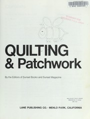 Cover of: Quilting & Patchwork by Sunset Books