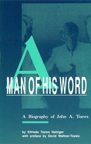 Cover of: A Man of His World | Elfrieda Toews Nafziger