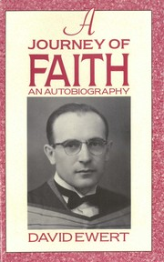 Cover of: A Journey of Faith | David Ewert