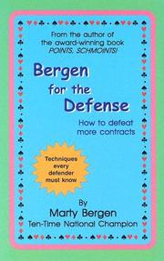 Cover of: Bergen for the Defense by Marty A. Bergen