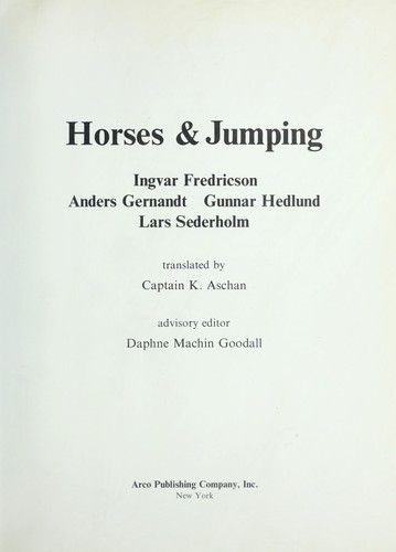 Horses and Jumping by Ingver Fredricson