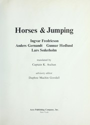 Cover of: Horses and Jumping | Ingver Fredricson