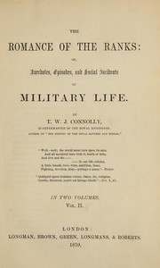 Cover of: The romance of the ranks | Thomas William John Connolly