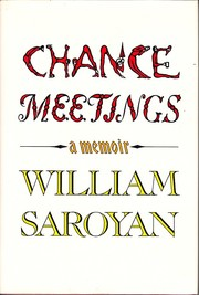 Cover of: Chance meetings | William Saroyan