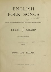 Cover of: English folk songs | Cecil J. Sharp