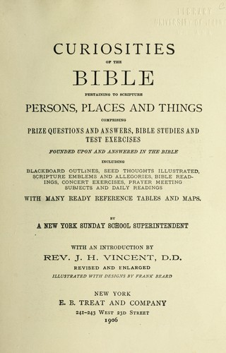 Curiosities of the Bible by John Heyl Vincent