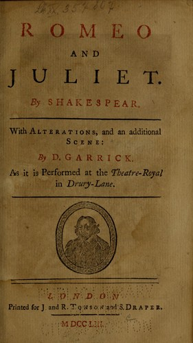 Romeo and Juliet by David Garrick, William Shakespeare