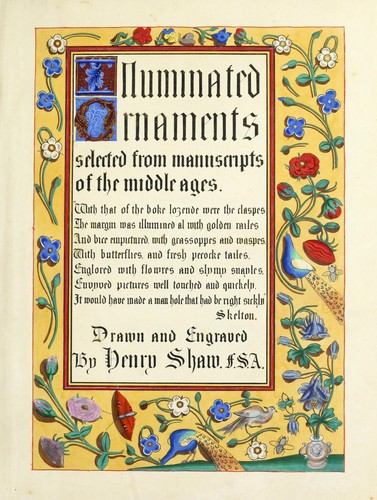 Illuminated ornaments by Shaw, Henry