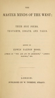 Cover of: The master minds of the West | Hood, Edwin Paxton