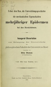 Cover of: [Pamphlets on Dicotyledonae] |