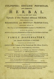 Cover of: Culpeper's English physician ; and complete herbal | Nicholas Culpeper
