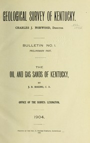 Cover of: The oil and gas sands of Kentucky | Joseph Bernard Hoeing