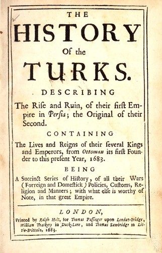 The history of the Turks by