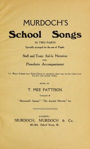 Cover of: Murdoch's school songs | T. Mee Pattison