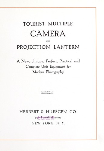 Tourist multiple camera and projection lantern by