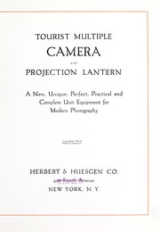 Cover of: Tourist multiple camera and projection lantern |
