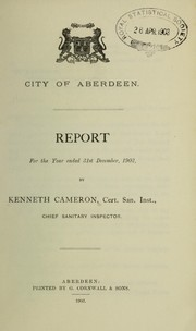 Cover of: [Report 1902] | Aberdeen (Scotland). City Council