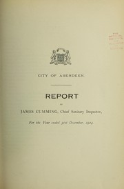 Cover of: [Report 1924] | Aberdeen (Scotland). City Council
