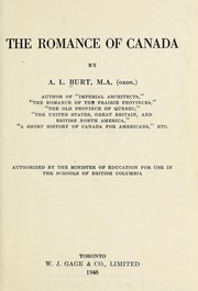 Cover of: The romance of Canada | Alfred LeRoy Burt