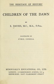 Cover of: Children of the dawn | Evan Davies