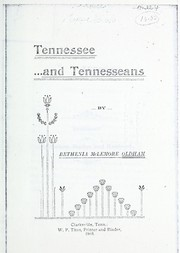 Cover of: Tennessee and Tennesseans | Bethenia McLemore Oldham