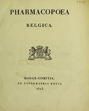 Cover of: Phamacopoea Belgica |
