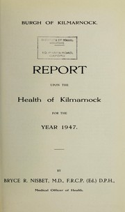 Cover of: [Report 1947] | Kilmarnock (Scotland). Council