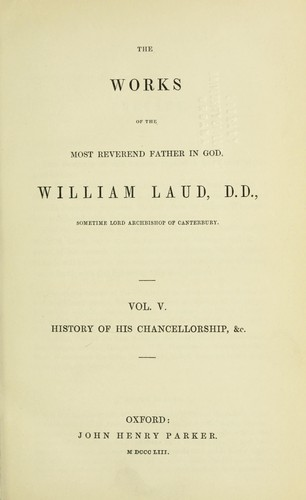 The works by William Laud