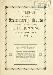 Cover of: Catalogue of choice strawberry plants | H.H. Benning (Firm)