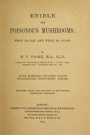 Cover of: Edible and poisonous mushrooms by M. C. Cooke