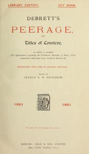Cover of: Debrett's peerage, and titles of courtesy |