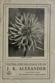 Cover of: Cultural guide and catalog for 1920 | J.K. Alexander (Firm)