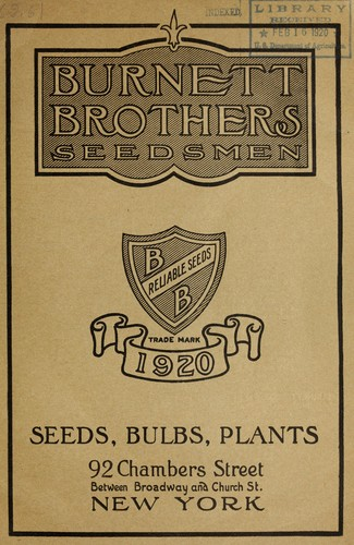 Seeds, bulbs, plants by Burnett Brothers