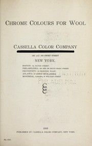 Cover of: Chrome colours for wool | Cassella Color Company