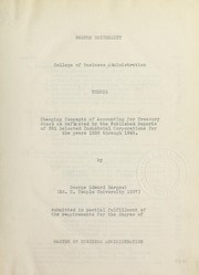 Cover of: Changing concepts of accounting for treasury stock as reflected by the published reports of 391 selected industrial corporations for the years 1939 through 1945 | George E. Hargest