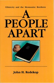 Cover of: A People Apart | John H. Redekop