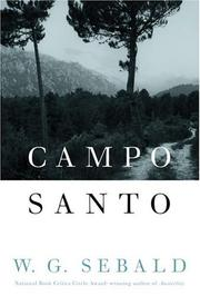 Cover of: Campo Santo | Winfried Georg Sebald