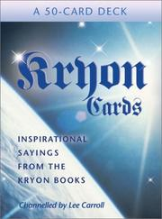 Cover of: Kryon Cards (Large Card Decks) | Lee Carroll