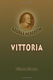 Cover of: Vittoria | George Meredith