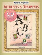 Cover of: Memories of a Lifetime: Alphabets & Ornaments by Anna Corba